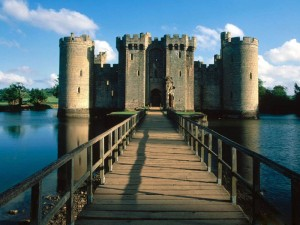 Bodiam Castle with Moat.